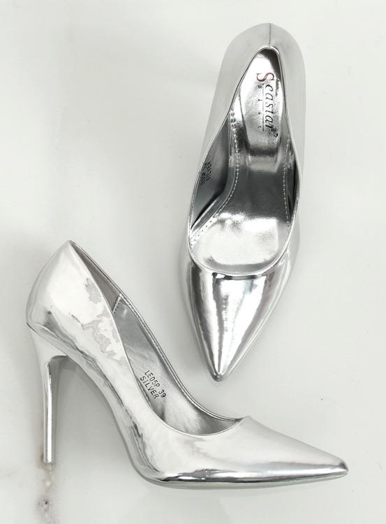 Szpilki metaliczne srebrne LE05P SILVER