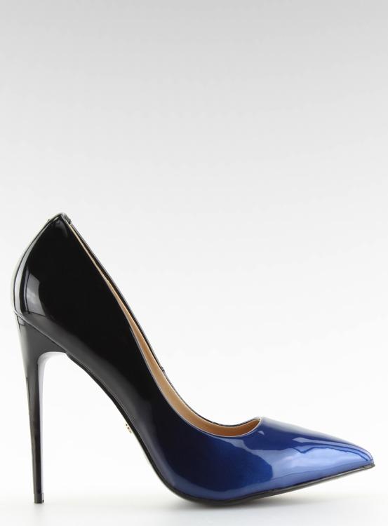 Szpilki ombre LE036P BLUE/BLACK