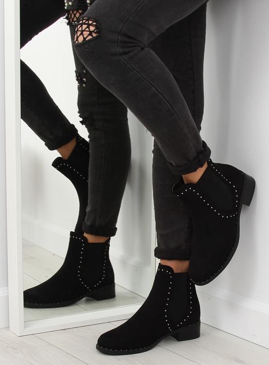 Sztyblety damskie czarne 1002-1 BLACK