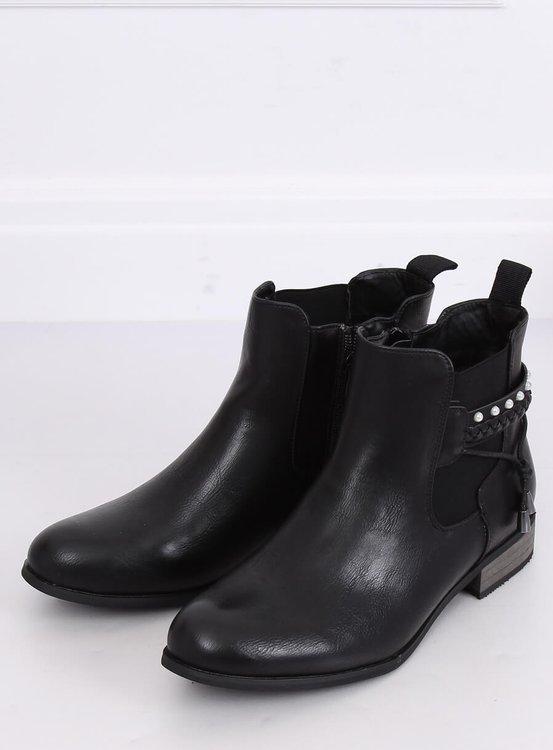 Sztyblety damskie czarne 846 BLACK