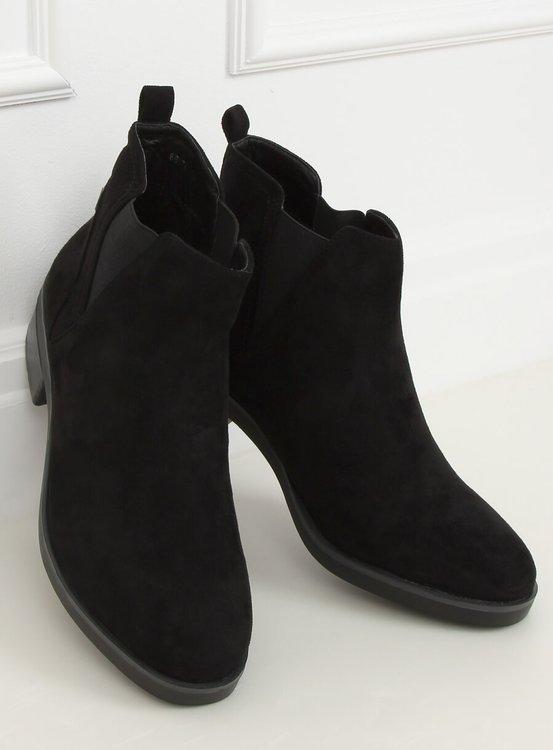 Sztyblety damskie czarne 8B978 BLACK