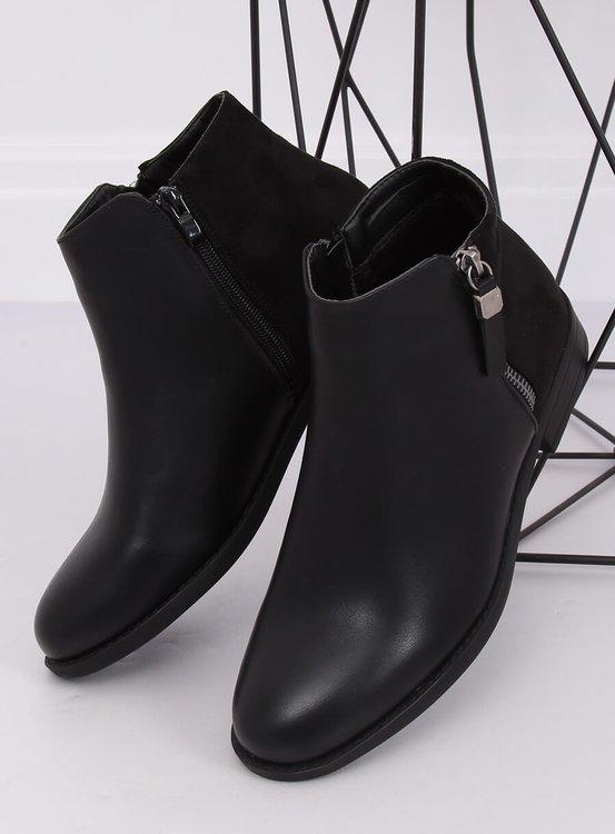 Sztyblety damskie czarne B0-350 BLACK