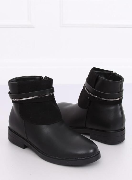 Sztyblety damskie czarne HFN-2276-2 BLACK