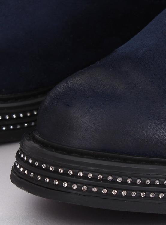 Sztyblety damskie granatowe WY-2842 BLUE