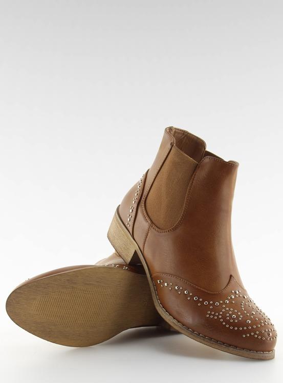 Sztyblety damskie z ćwiekami brązowe ka16-160sl Camel