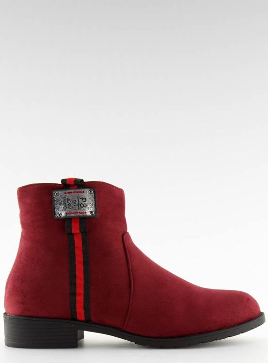 Sztyblety zamszowe bordowe 100-913B0-2 RED