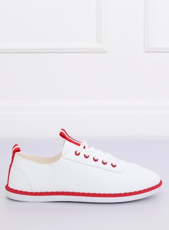 Tenisówki damskie biało-czerwone XJ-2918 RED