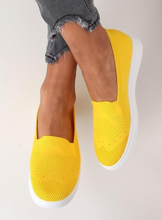 Tenisówki damskie żółte ZK069 GIALLO