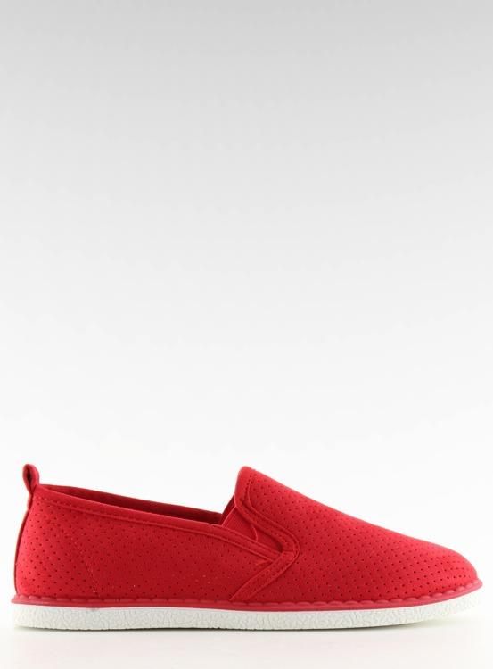 Tenisówki slip-on czerwone LA08P RED