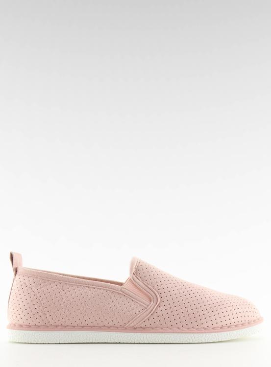 Tenisówki slip-on różowe LA08P NUDE