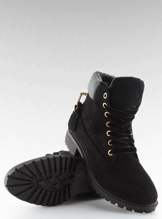 Timberki damskie czarne AT-0623-L BLACK