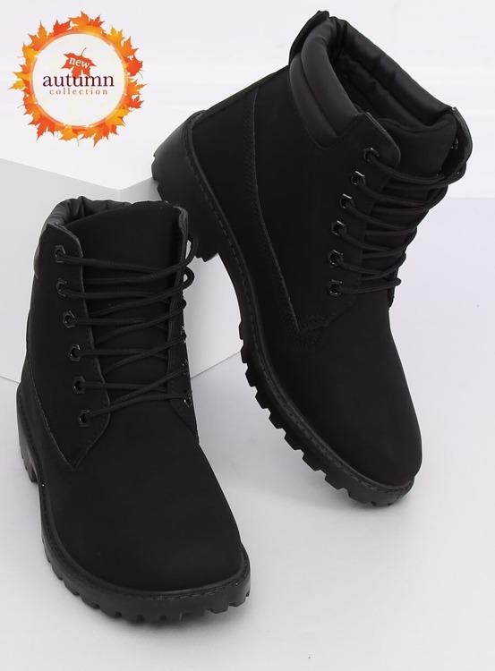 Timberki damskie czarne W-3033 BLACK