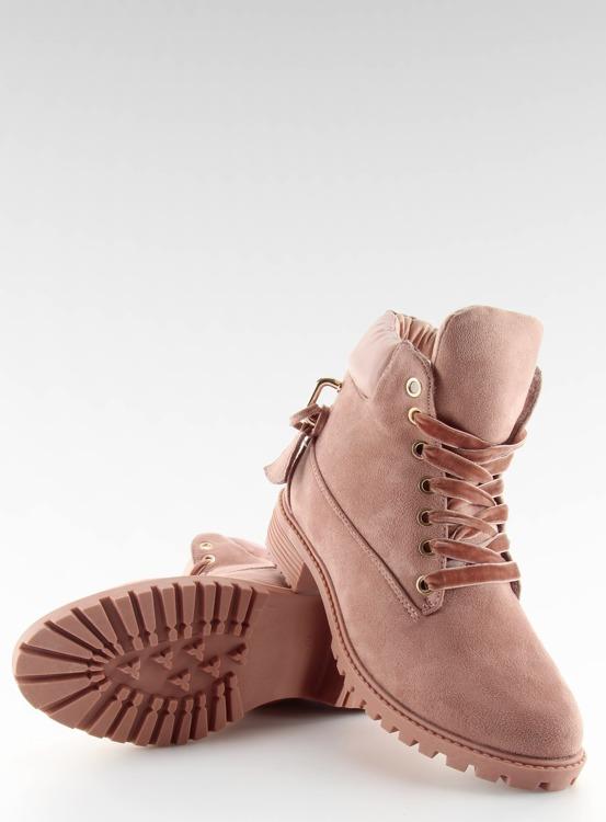 Timberki damskie czarne rózowe AT-0623-L PINK