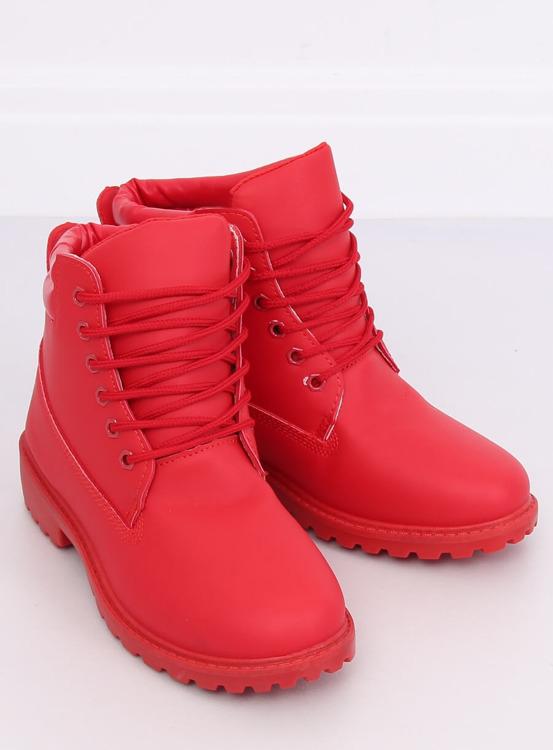 Timberki damskie czerwone W-3033 RED
