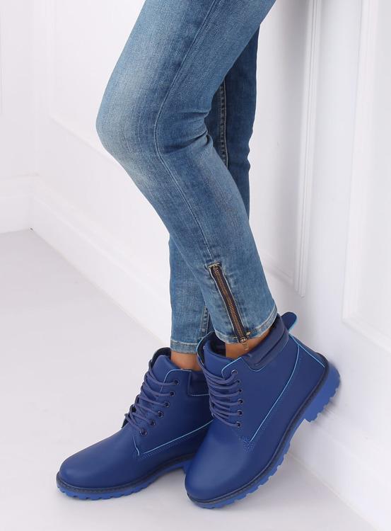 Timberki damskie granatowe W-3033 BLUE