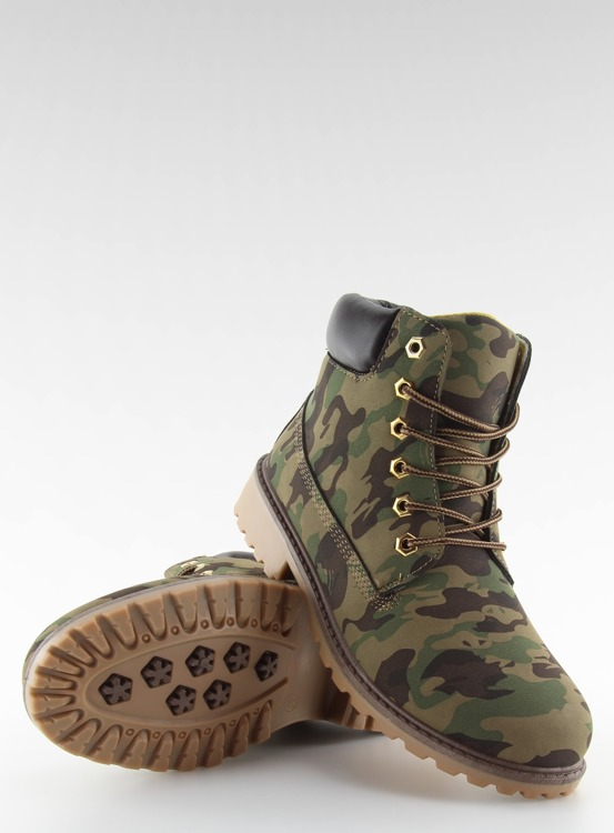 Timberki mono-colour kamuflaż BL83 Army Green