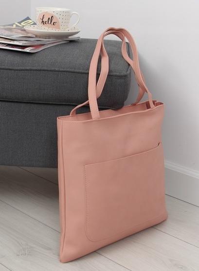 Torebka shopper bag różowa TB-S-164 Różowy