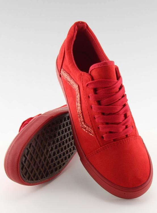 Trampki Vansówki czerwone B318-10 RED