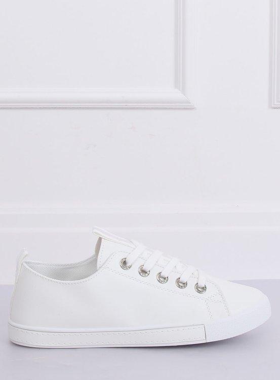 Trampki damskie białe 6308 WHITE