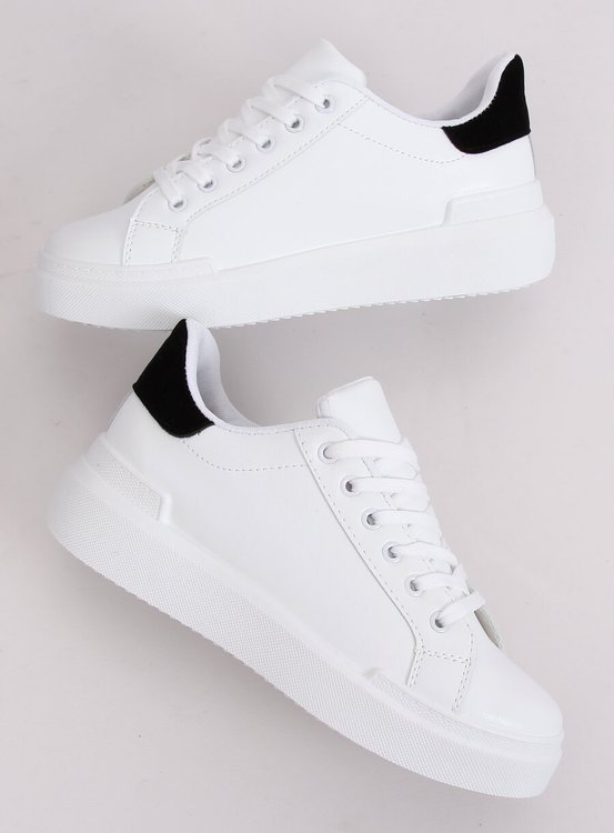 Trampki damskie białe 85-428 WHITE/BLACK