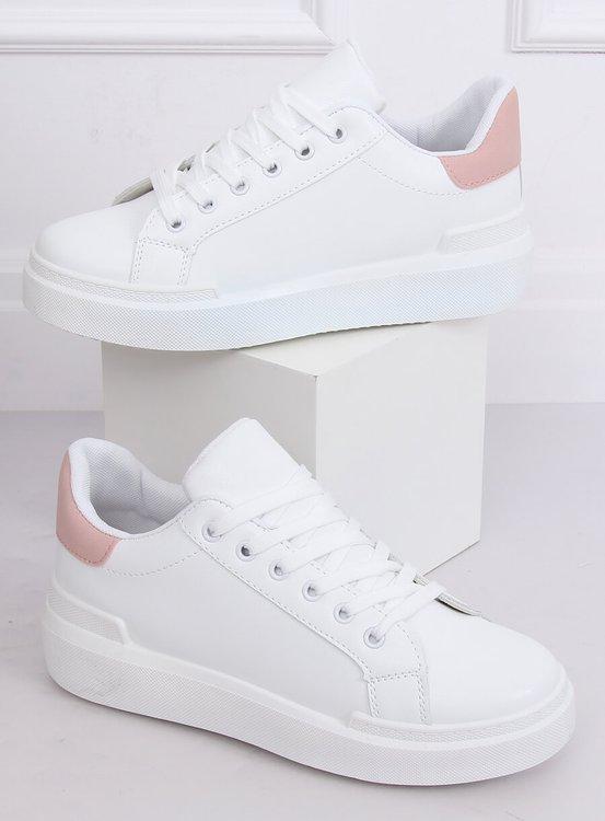 Trampki damskie białe 85-428 WHITE/PINK