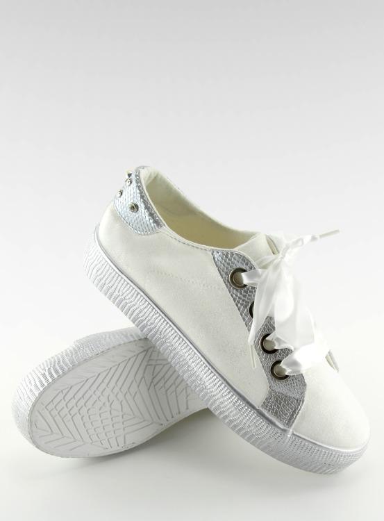 Trampki damskie białe BS096 BAS-1 WHITE