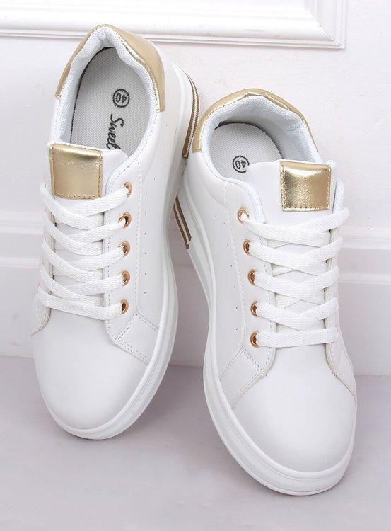 Trampki damskie białe L8035 GOLD