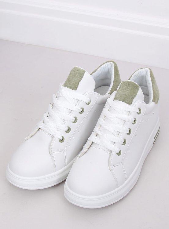 Trampki damskie białe L8035 GREEN