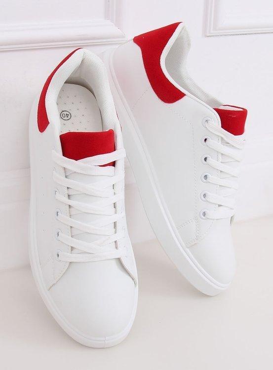 Trampki damskie białe LA85P RED