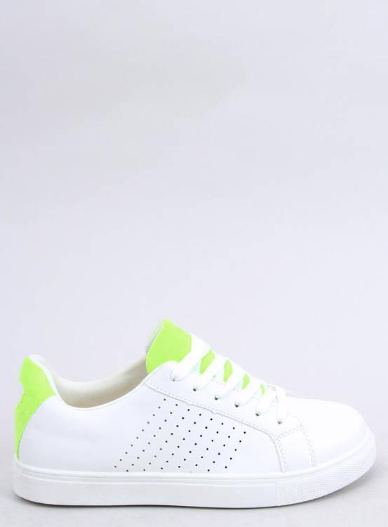 Trampki damskie białe WB807 WHITE/GREEN