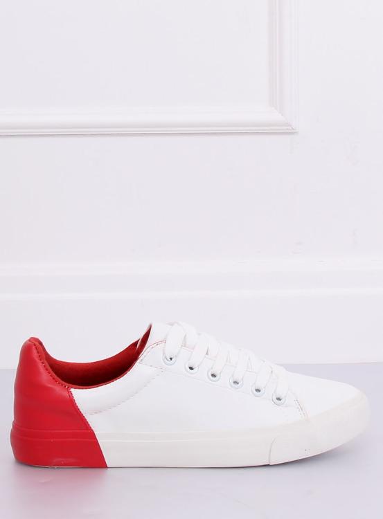 Trampki damskie biało-czerwone A88-29 W-RED