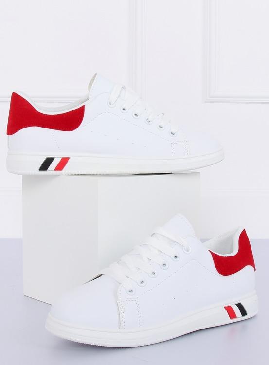 Trampki damskie biało-czerwone BL147P RED