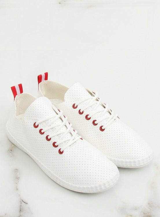 Trampki damskie biało-czerwone BO-1 RED