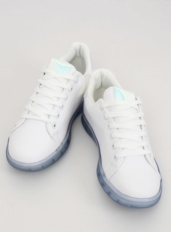 Trampki damskie biało-niebieskie 2B9XX923 WHITE/BLUE