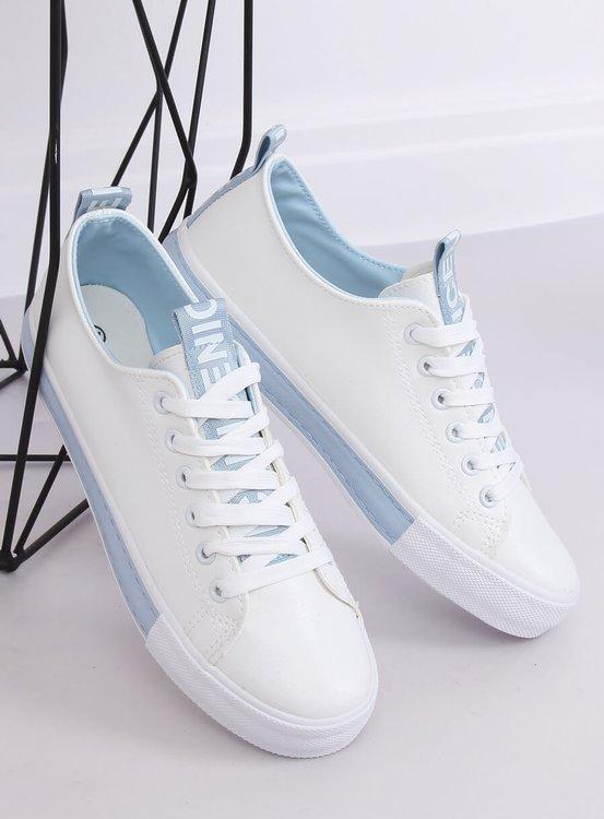 Trampki damskie biało-niebieskie A88-23 BLUE