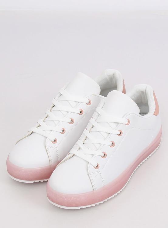 Trampki damskie biało-różowe 9118 PINK