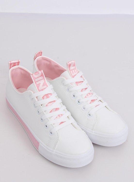 Trampki damskie biało-różowe A88-23 PINK