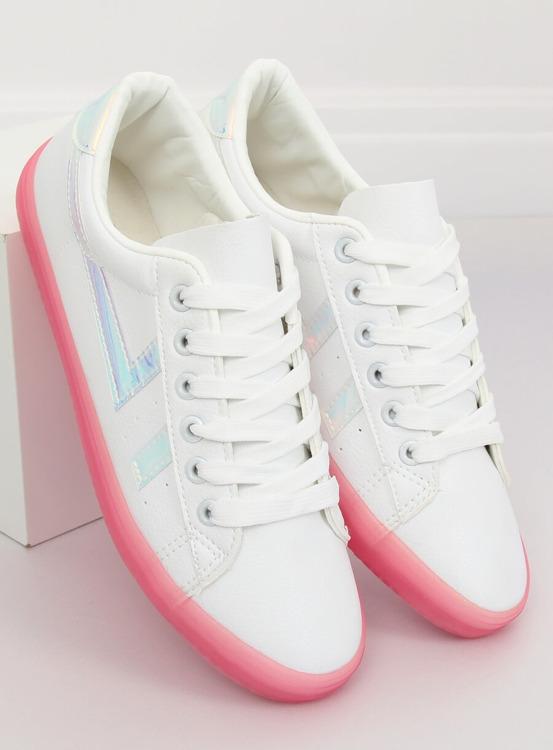 Trampki damskie biało-różowe B0-08 WHITE/PEACH