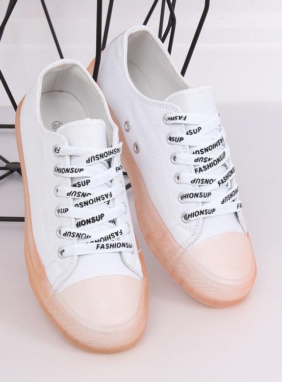 Trampki damskie biało-różowe B111-2 WHITE/PINK