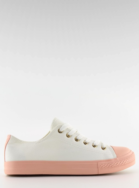 Trampki damskie biało-różowe BL97P WHITE/PINK