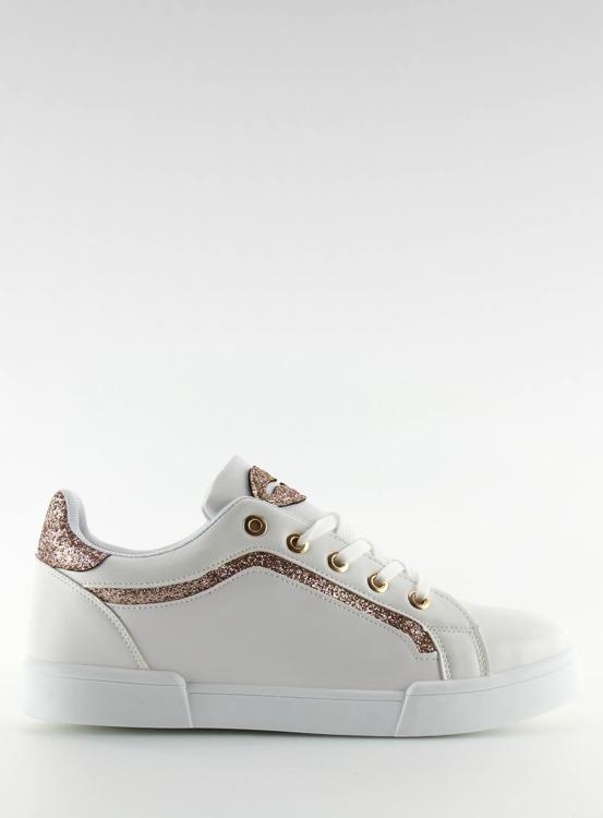Trampki damskie biało-różowe BM1972 WHITE/CHAMPAGNE