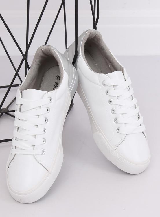 Trampki damskie biało-srebrne A88-29 W-SILVER