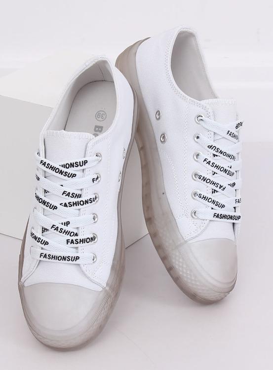 Trampki damskie biało-szare B111-2 WHITE/GREY