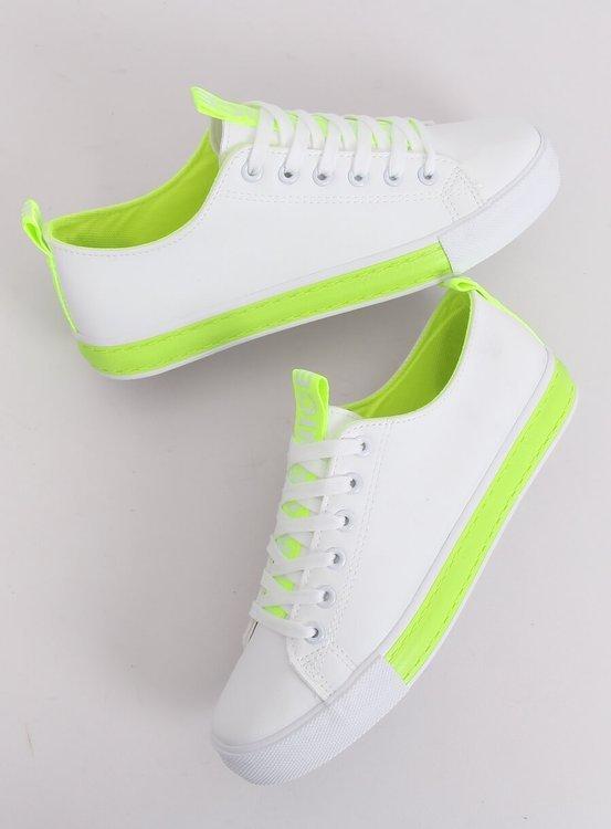 Trampki damskie biało-zielone A88-23 GREEN