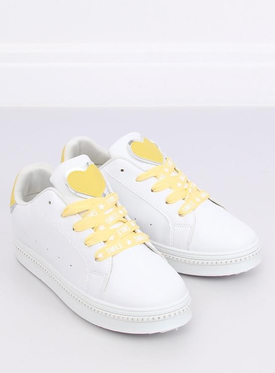 Trampki damskie biało-żółte H99-36 YELLOW