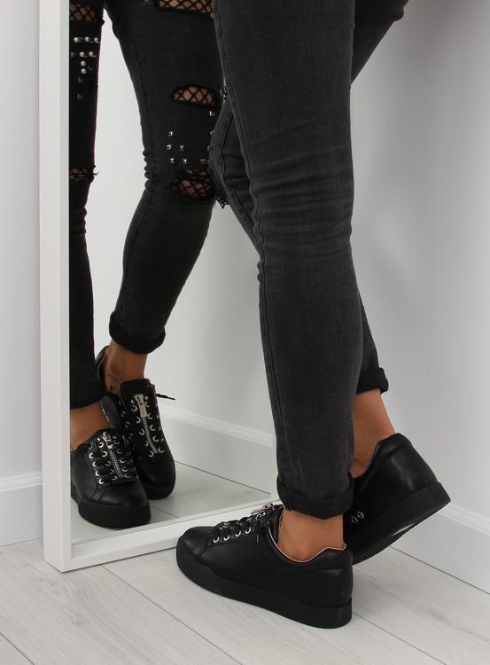 Trampki damskie czarne 7209 BLACK