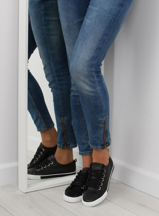 Trampki damskie czarne A88-07 BLACK