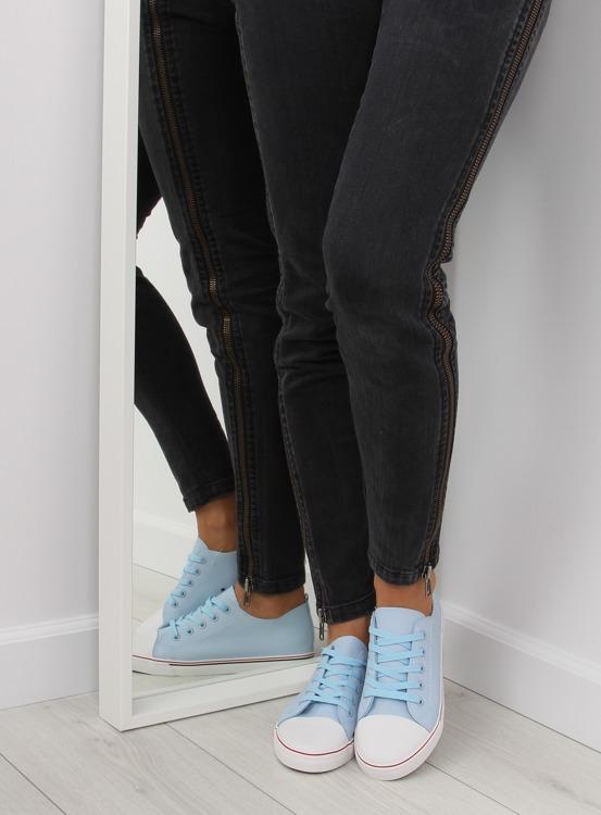 Trampki damskie licowe niebieskie XL01p BLUE