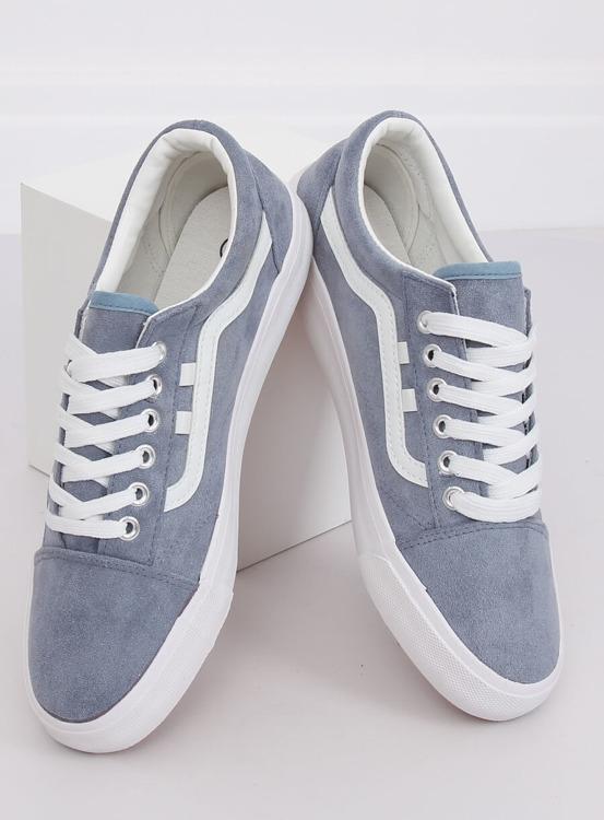 Trampki damskie niebieskie B70A BLUE/WHITE