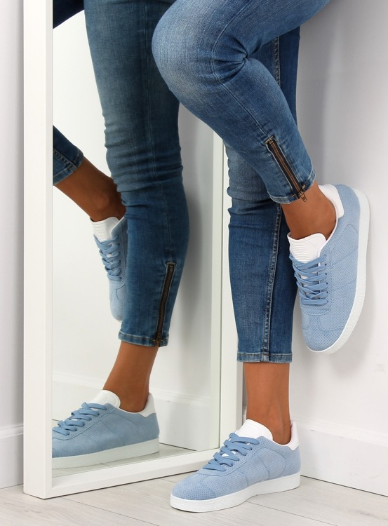 Trampki damskie niebieskie BL131P BLUE